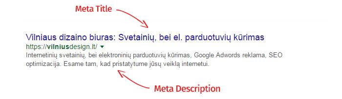 meta title & meta description